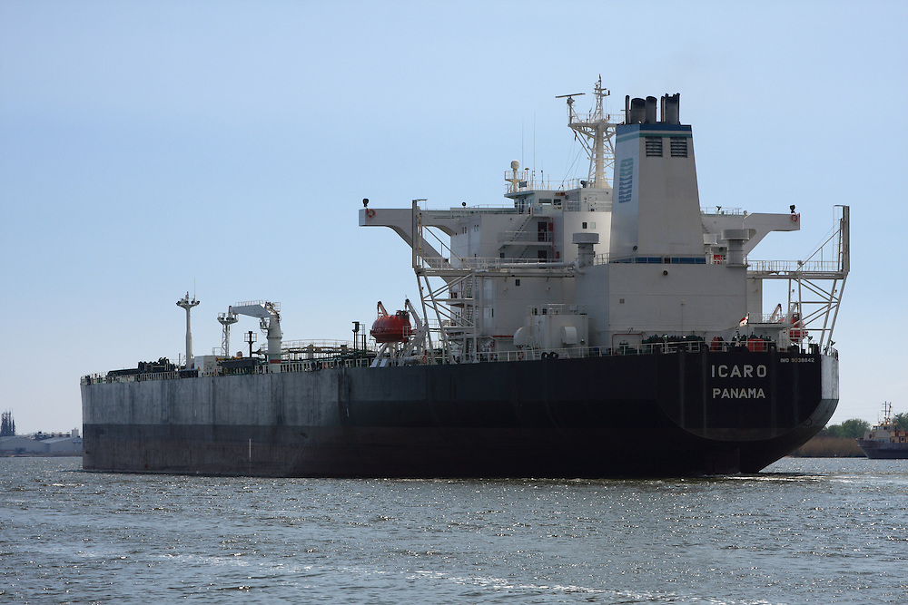 Icaro, Out of Panama, Calcasieu Shipping Channel at Cameron, LA