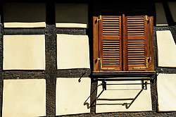 Detail of old half timbered house in Bauxwiller, Alsace, France<br /> <br /> (c) Andrew Wilson | Edinburgh Elite media