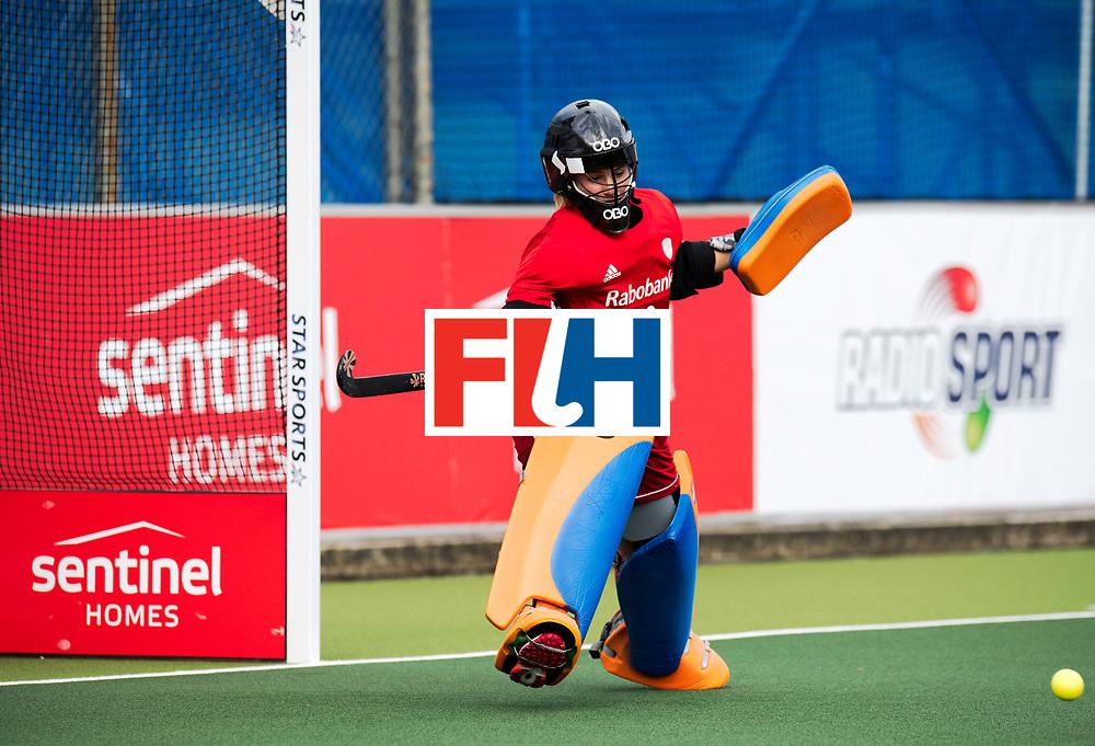 AUCKLAND - Sentinel Hockey World League final women<br /> Match id: 10299<br /> 09 NED v KOR (Pool A)<br /> Foto:  Josine Koning (Gk) <br /> WORLDSPORTPICS COPYRIGHT FRANK UIJLENBROEK