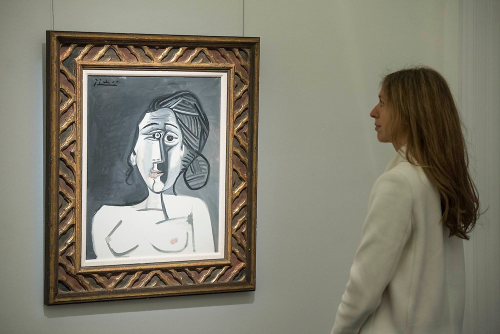 PABLO PICASSO Buste de femme Painted in 1953. Estimate US$ 3,500,000 – 5,000,000 - Sotheby's previews New York sales of Impressionist, Modern and Contemporary Art.   London Exhibition Dates 9- 13 April 2016, New York Sale Dates Impressionist & Modern Art Evening Sale: 9 May 2016 and Contemporary Art Evening Auction: 11 May 2016