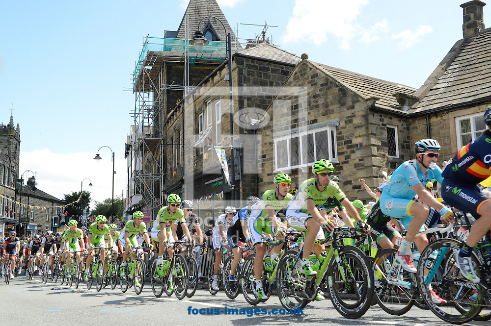 The peloton pictured during Stage One of the Tour de France at Ilkley, Yorkshire.<br /> Picture by Russell Hart/Focus Images Ltd 07791 688 420<br /> 05/07/2014
