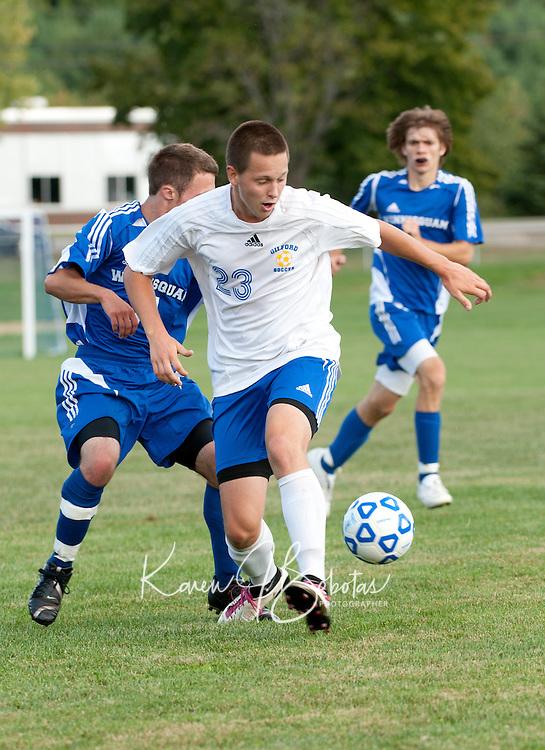 Boys varsity soccer Gilford versus Winnisquam September 14, 2010.