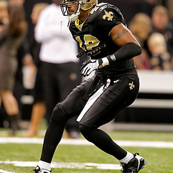 Nov 08, 2009; New Orleans, LA, USA;  New Orleans Saints safety Darren Sharper (42) during warm ups prior to kickoff against the Carolina Panthers at the Louisiana Superdome. The Saints defeated the Panthers 30-20. Mandatory Credit: Derick E. Hingle
