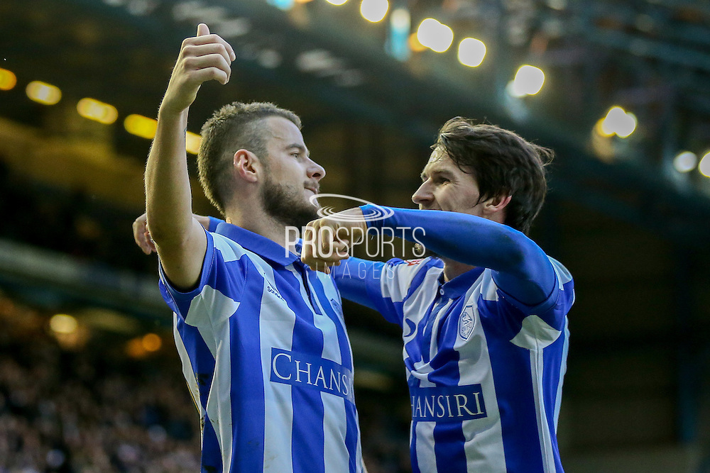 Sheffield Wednesday defender, on loan from Watford, Daniel Pudil scores the third goal during the Sky Bet Championship match between Sheffield Wednesday and Wolverhampton Wanderers at Hillsborough, Sheffield, England on 20 December 2015. Photo by Simon Davies.