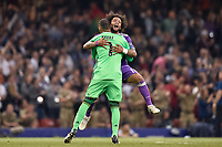 Keylor Navas of Real Madrid and Marcelo of Real Madrid Celebrates the winning of the Champions League during the UEFA Champions League Final match between Real Madrid and Juventus at the National Stadium of Wales, Cardiff, Wales on 3 June 2017. Photo by Giuseppe Maffia.<br /> <br /> Giuseppe Maffia/UK Sports Pics Ltd/Alterphotos