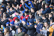 Shrewsbury Town fans celebrate the goal during the The FA Cup 3rd round match between Shrewsbury Town and Stoke City at Greenhous Meadow, Shrewsbury, England on 5 January 2019.