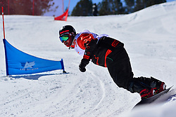 Snowboarder Cross Action, MASSIE Alex, CAN at the 2016 IPC Snowboard Europa Cup Finals and World Cup