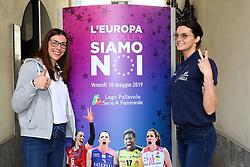 ALESSIA GENNARI E SERENA ORTOLANI<br /> CONFERENZA LEGA VOLLEY FEMMINILE SQUADRE ITALIANE PROTAGONISTE IN EUROPA<br /> FOTO FILIPPO RUBIN / LVF