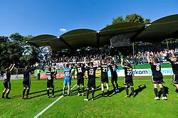 Team of NS Mura with fans after football match between NS Mura and NK Maribor in 10th Round of Prva liga Telekom Slovenije 2018/19, on September 30, 2018 in Mestni stadion Fazanerija, Murska Sobota, Slovenia. Photo by Mario Horvat / Sportida