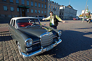 During summer from June to Septemper, every first Friday of the month is Vintage Car Cruising Night. Hundreds of classic American cars cruise around downtown Helsinki and meet at special places to have a good time, here at Kauppatori (Market Square). European Classics are also welcome, here a Mercedes-Benz 190D from the early sixties (my father used to have one of these, in baby blue).