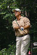 Jun 26, 2006; Gaylord MI; USA; Chris DiMarco watches his tee shot on the seventh hole during the final round of the ING Par-3 Shootout at Treetops Resort in Gaylord Michigan.