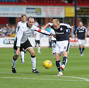 Dundee's  Nicky Low and St Johnstone&rsquo;s David Mackay- Dundee v St Johnstone at Dens Park <br /> - Ladbrokes Premiership<br /> <br />  - &copy; David Young - www.davidyoungphoto.co.uk - email: davidyoungphoto@gmail.com
