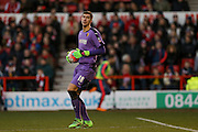 Watford goalkeeper Costel Pantilimon  during the The FA Cup fourth round match between Nottingham Forest and Watford at the City Ground, Nottingham, England on 30 January 2016. Photo by Simon Davies.