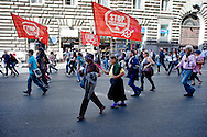 Roma 18 Ottobre 2013<br /> Manifestazione dei sindacati di base, Cobas e USB, contro il governo dell'austerit&agrave; e la legge di stabilit&agrave;<br /> Rome October 18, 2013<br /> Manifestation of the base unions, Cobas and USB, against the government austerity and stability law