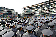6 Dec 2008: Army Cadets line up on the field before the Army / Navy game December 6th, 2008. At Lincoln Financial Field in Philadelphia, Pennsylvania.