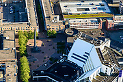 Nederland, Flevoland, Lelystad, 07-05-2018; Lelystad Centrum met syadhuis.<br /> Lelystad city centre with  city hall.<br />  <br /> luchtfoto (toeslag op standard tarieven);<br /> aerial photo (additional fee required);<br /> copyright foto/photo Siebe Swart