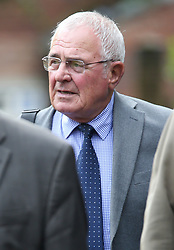 © Licensed to London News Pictures. 09/08/2017. Warrington, UK. Former police officer Donald Denton arrives at Warrington Magistrates Court. Former West Yorkshire Police Chief Sir Norman Bettison, former police officers Donald Denton and Alan Foster, South Yorkshire Police solicitor Peter Metcalf, and former Sheffield Wednesday secretary and safety officer Graham Mackrell are appearing at Warrington Magistrates Court today to face charges relating to the Hillsborough tragedy where 96 people died in 1989. Photo credit: Andrew McCaren/LNP
