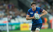 London, Great Britain, Lock, Alexandre FLANQUART, during a Pool D game,     France vs Romania. 2015 Rugby World Cup. Venue. The Stadium Queen Elizabeth Olympic Park. Stratford. East London. England,, Wednesday  23/09/2015. <br /> [Mandatory Credit; Peter Spurrier/Intersport-images]
