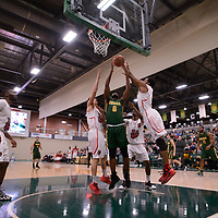 3rd year forward Shaquille Harris (6) of the Regina Cougars during the Men's Basketball home game on January 27 at Centre for Kinesiology, Health and Sport. Credit: Arthur Ward/Arthur Images