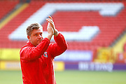 Charlton Athletic Head Coach Karl Robinson during the EFL Sky Bet League 1 match between Charlton Athletic and Fleetwood Town at The Valley, London, England on 4 February 2017. Photo by Andy Walter.