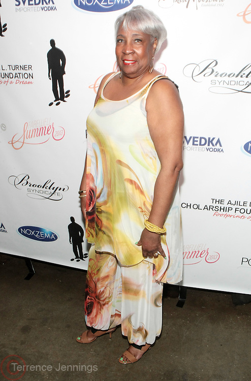 12 September 2013- Brooklyn, NY:  Aunt, Mattie L. Turner attends the Farewell to Summer 2013 Benefit Concert for the Ajile Turner Foundation held at the Galapagos Art Space on September 12, 2013 in Brooklyn, NY. ©Terrence Jennings