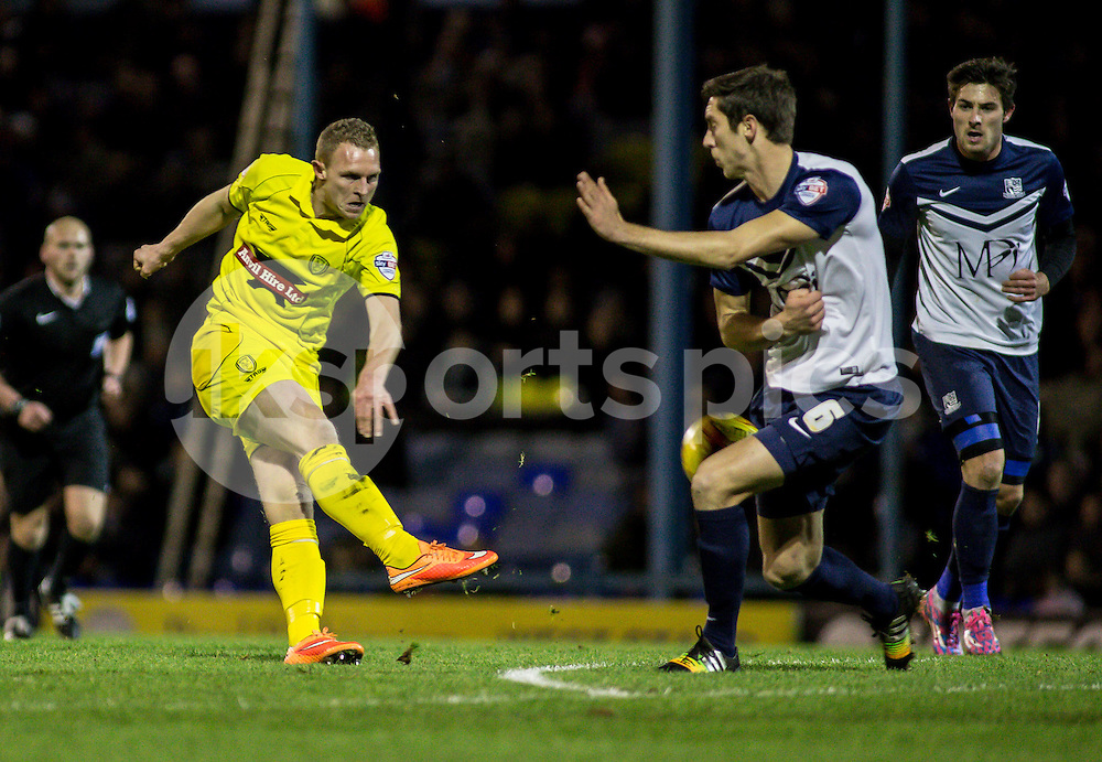 Stuart Beavon of Burton Albion during the Sky Bet League 2 match between Southend United and Burton Albion at Roots Hall, Southend, England on 19 December 2014. Photo by Liam McAvoy.