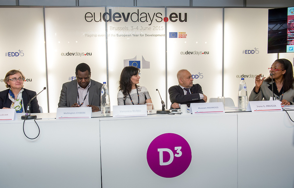 04 June 2015 - Belgium - Brussels - European Development Days - EDD - Jobs - Developing with decent work © European Union