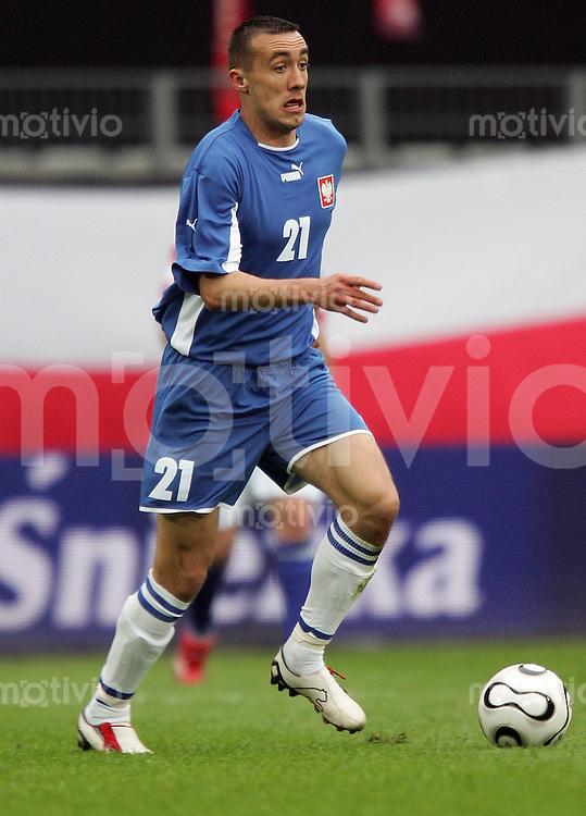 Fussball WM 2006: Testspiel Kroatien gegen Polen  Radoslaw SOBOLEWSKI (Polen) am Ball