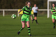 Forest Green Rovers Georgeina Macey(6) during the South West Womens Premier League match between Forest Greeen Rovers Ladies and Marine Academy Plymouth LFC at Slimbridge FC, United Kingdom on 5 November 2017. Photo by Shane Healey.