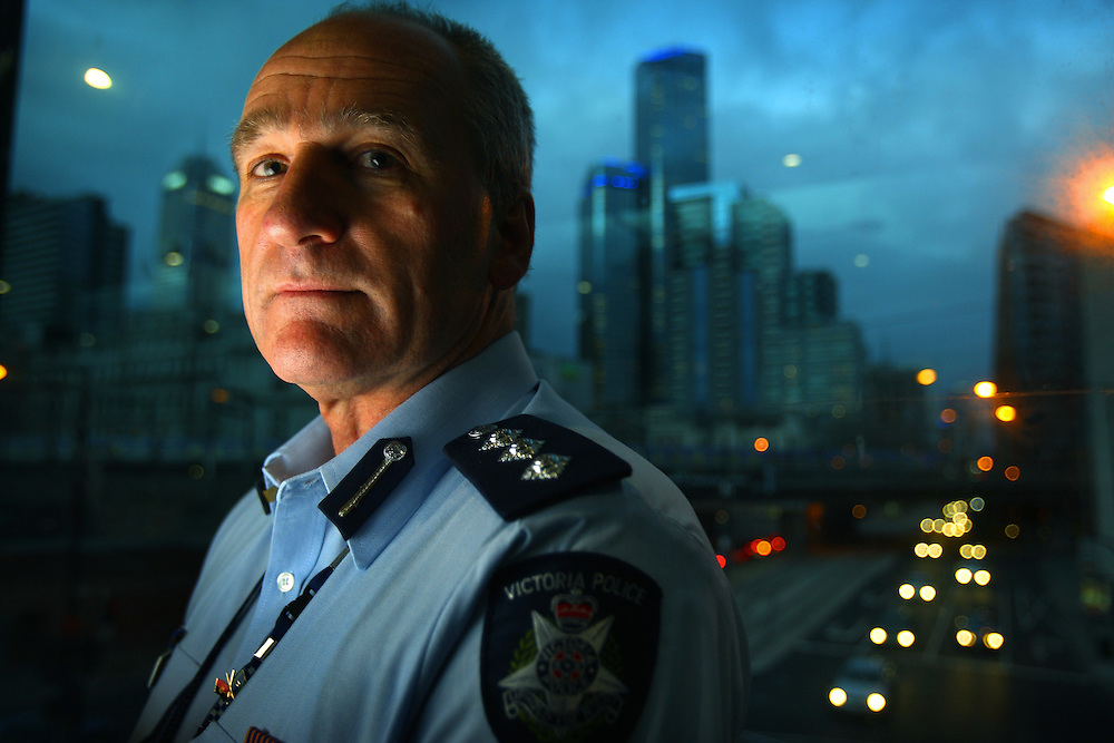 Police Inspector Paul Pattage talks about violence on Melbournes streets  By Craig Sillitoe   30/07/2009 SPECIAL 000  Pic By Craig Sillitoe CSZ / The Sunday Age melbourne photographers, commercial photographers, industrial photographers, corporate photographer, architectural photographers, This photograph can be used for non commercial uses with attribution. Credit: Craig Sillitoe Photography / http://www.csillitoe.com<br /> <br /> It is protected under the Creative Commons Attribution-NonCommercial-ShareAlike 4.0 International License. To view a copy of this license, visit http://creativecommons.org/licenses/by-nc-sa/4.0/.