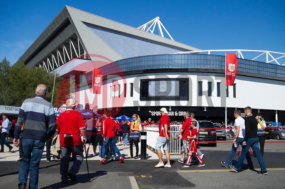 Fans arriving at Ashton Gate - Mandatory by-line: Paul Knight/JMP - 17/09/2016 - FOOTBALL - Ashton Gate Stadium - Bristol, England - Bristol City v Derby County - Sky Bet Championship
