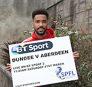 Aberdeen's Shay Logan - Dundee v Aberdeen pre-match press <br /> <br />  - &copy; David Young - www.davidyoungphoto.co.uk - email: davidyoungphoto@gmail.com