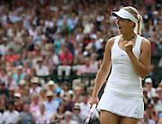 30/06/2011 - Wimbledon (Day 10) - Ladies' Singles Semi-Finals - Maria Sharapova vs. Sabine Lisicki - Sabine Lisicki celebrates - Photo: Simon Stacpoole / Offside.