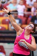 Poland, Warsaw - 2017 August 15: Anna Niedbala from Poland competes in women&rsquo;s shot put during Memorial of Kamila Skolimowska at Stadion PGE Narodowy on August 15, 2017 in Warsaw, Poland.<br /> <br /> Mandatory credit:<br /> Photo by &copy; Adam Nurkiewicz<br /> <br /> Adam Nurkiewicz declares that he has no rights to the image of people at the photographs of his authorship.<br /> <br /> Picture also available in RAW (NEF) or TIFF format on special request.<br /> <br /> Any editorial, commercial or promotional use requires written permission from the author of image.