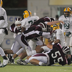 31 October, 2008: St. Thomas Aquinas OT/G Russell Ribando  (#55), St. Thomas Aquinas LB/WB Charles Robert Miller  (#16), St. Thomas Aquinas WR/CB Ryan Gambel  (#3) The St. Thomas Falcons recorded their first shut out of the season with a 41-0 shutout of the Southern Lab Kittens at Strawberry Stadium in Hammond, LA.