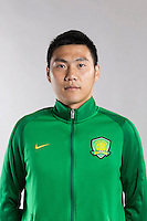Portrait of Chinese soccer player Lei Tenglong of Beijing Sinobo Guoan F.C. for the 2017 Chinese Football Association Super League, in Benahavis, Marbella, Spain, 18 February 2017.