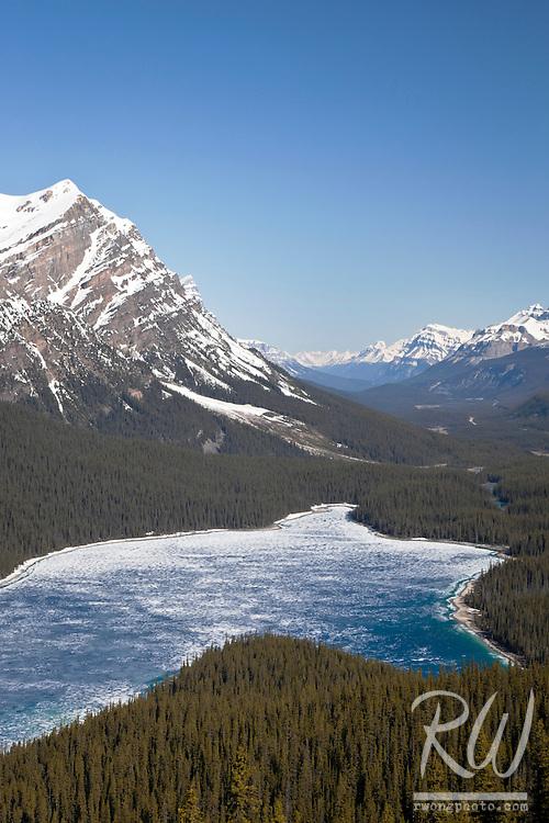 Peyto Lake Scenic Vista from Bow Summit, Banff National Park, Alberta, Canada