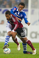 19.11.2011, Veltins Arena, Gelsenkirchen, GER, 1. FBL, FC Schalke 04 vs 1. FC Nuernberg, im Bild Zweikampf Jermaine Jones (#13 Schalke) - Daniel Didavi (#20 Nuernberg) // during FC Schalke 04 vs. 1. FC Nuernberg at Veltins Arena, Gelsenkirchen, GER, 2011-11-19. EXPA Pictures © 2011, PhotoCredit: EXPA/ nph/ Kurth..***** ATTENTION - OUT OF GER, CRO *****