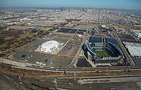 Aerial view of the Philadelphia Sports Complex skyline. Aerial view of the Philadelphia Sports Complex skyline.