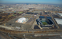 Aerial view of the Philadelphia Sports Complex skyline. Aerial view of the Philadelphia Sports Complex skyline.