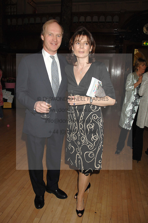 JAMES & LUCY HERVEY-BATHURST at a party to celebrate the publication of 'Seven Secrets of Successful Parenting' by Karen Doherty and Georgia Coleridge, held at Chelsea Town Hall, King's Road, London on 28th April 2008.<br /><br />NON EXCLUSIVE - WORLD RIGHTS
