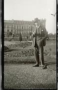 positive of damaged negative of man posing 1920s