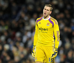 West Ham's Adrian cuts a dejected figure - Photo mandatory by-line: Dougie Allward/JMP - Mobile: 07966 386802 - 02/12/2014 - SPORT - Football - West Bromwich - The Hawthorns - West Bromwich Albion v West Ham United - Barclays Premier League