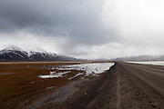 road into valley Spitsbergen, Svalbard