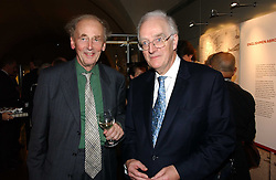 Left to right, SIR NICHOLAS GOODISON and TIMOTHY STEVENS at 'Britannia & Muscovy English Silver at The Court of The Tsars' exhibition opening at the Gilbert Collection, Somerset House, London on 20th October 2006<br />