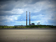 Poolbeg Chimneys, Ringsend. Dublin,  1971 and 1977, ESB Generating Station,