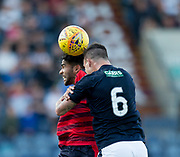 Raith&rsquo;s Kyle Benedictus and Dundee&rsquo;s Faissal El Bakhtaoui - Raith Rovers v Dundee, Betfred Cup at Starks Park, Kirkcaldy, Photo: David Young<br /> <br />  - &copy; David Young - www.davidyoungphoto.co.uk - email: davidyoungphoto@gmail.com