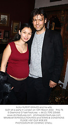Actor RUPERT GRAVES and his wife SUSY at a party in London on 10th March 2003.PHU 75