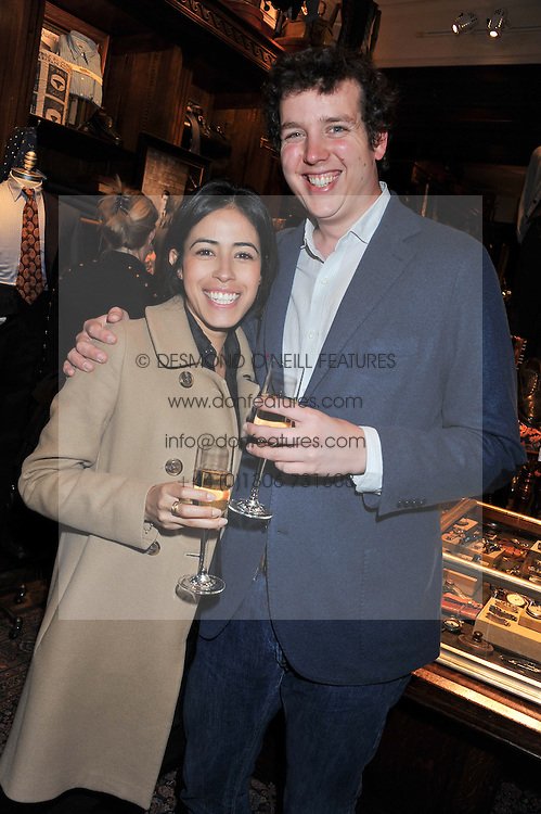 MICHAEL SACKLER and INHARA ORTIZ at a reception hosted by Ralph Lauren Double RL and Dexter Fletcher before a private screening of Wild Bill benefitting FilmAid held at RRL 16 Mount Street, London on 26th March 2012.