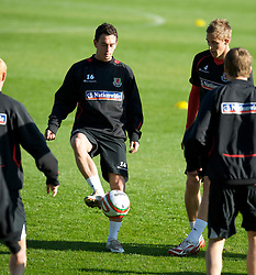 CARDIFF, WALES - Wednesday, October 8, 2008: Wales' xxxx during training at Ninian Park ahead of the UEFA European U21 Championship Play-Off match against England. (Photo by David Rawcliffe/Propaganda)